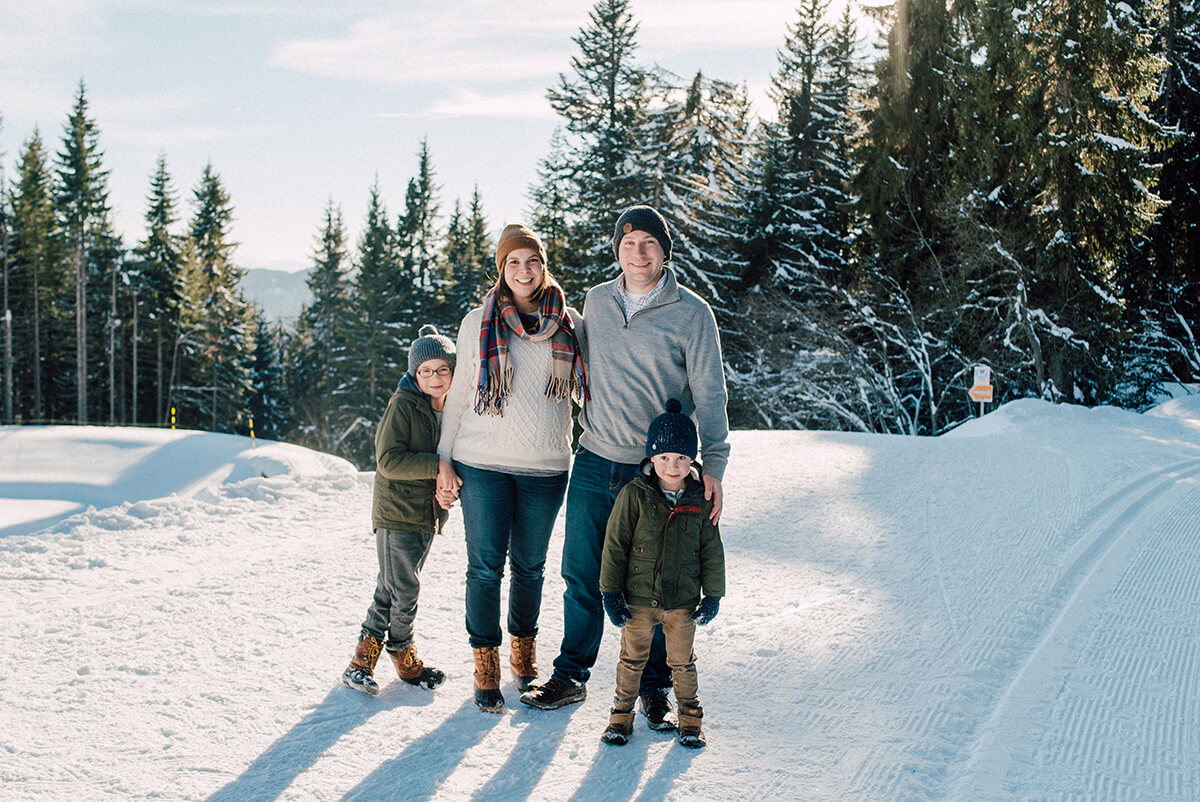 maternity family kids sledge snow winter maternity les gets french alps
